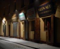 Szeroka gata - Krakow Royaltyfria Foton