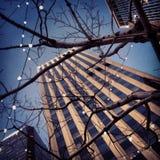 Zimy miasta światła Zdjęcie Royalty Free