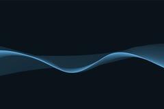 Szeroka niebieska linia na czarnym tle Obraz Stock