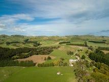 Szeroka Nowa Zelandia ziemi uprawnych wieś Fotografia Stock