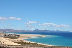 Szeroka piaskowata plaża Obraz Royalty Free