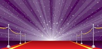 Szeroka wybuch purpur czerwień royalty ilustracja