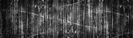 Szeroki czarny grunge t?o Starej ciemnej betonowej ?ciany panoramiczna tekstura Brudzi plamy i narysy fotografia stock