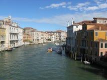 Szeroki główny kanał w Venezia obraz stock