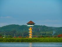 Szeroki jezioro, bagno, Talay Noi bagna, Phatthalung, Tajlandia zdjęcie royalty free