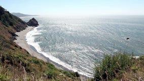 Szeroki kąt Macha I trawa Rusza się Oregon wybrzeże zbiory