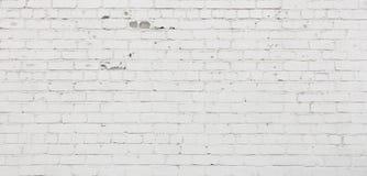 Szeroki kąta bielu ściana z cegieł tło szczegółów tekstury okno stary drewniane fotografia royalty free