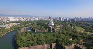 Szeroki kąta Osaka kasztelu anteny strzał zdjęcie wideo
