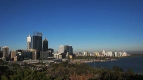 Szeroki kąta widok Perth od królewiątko parka zbiory