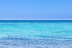 Szeroki kąta widok Pacyficzny ocean od brzeg Hawaje Fotografia Royalty Free