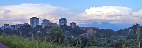 Szeroki miastowy krajobraz obrazy stock