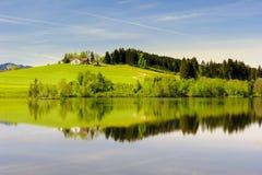 Szeroki panorama krajobraz w Bavaria zdjęcia royalty free