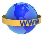 szeroki sieć świat Obraz Royalty Free
