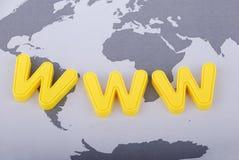 szeroki sieć świat Obrazy Royalty Free
