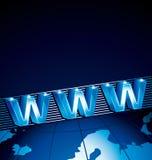 szeroki sieć świat Obrazy Stock