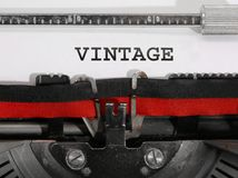 Szeroki teksta rocznik pisać z starym maszyna do pisania Zdjęcia Royalty Free