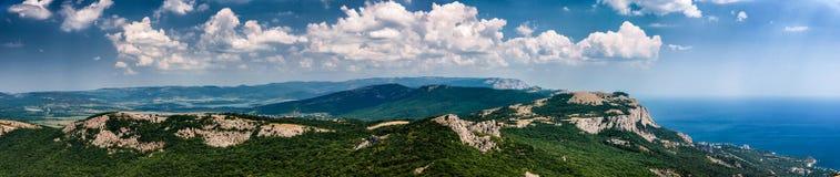 Szeroki widok od Ilyas-Kaya góry Zdjęcia Stock