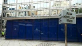 Szeroki widok powierzchowność Nowy Scotland Yard, Londyn zbiory