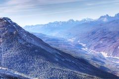 Szeroki widok Skaliste góry w jesieni Zdjęcie Stock