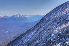 Szeroki widok Skaliste góry w spadku Zdjęcie Royalty Free