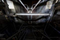 Szeroki widok Zaniechana elektrownia w Nowy Jork Zdjęcia Royalty Free