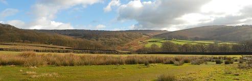 Szeroki wsi góry krajobraz Obraz Royalty Free