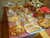 Szeroki wybór tradycyjni wschodni deserów cukierki Obraz Royalty Free