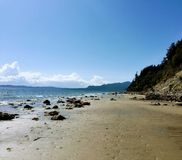 Szerokie, piaskowate plaże pirat, Trzymać na dystans na pięknym lato d zdjęcia stock