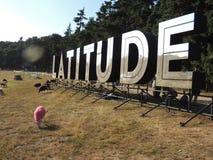 Szerokość festiwalu metalu znak Zdjęcia Stock