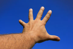szeroko rozpościerać ręka Obraz Stock