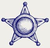 Szeryf odznaka ilustracji