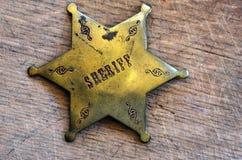 Szeryf odznaka Fotografia Royalty Free