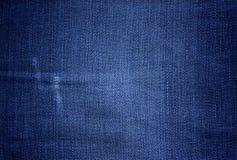 szew błękitny sukienna drelichowa tekstura Fotografia Royalty Free