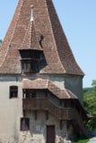 Szewc górują część Sighisoara (Turnul Cizmarilor) Zdjęcie Royalty Free