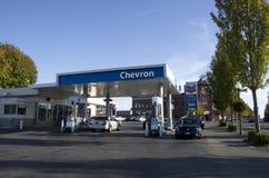 Szewron benzynowa stacja Obraz Royalty Free
