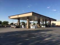 Szewron benzynowa stacja Obrazy Stock