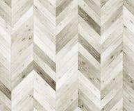 Szewron bieląca naturalna parkietowa bezszwowa podłogowa tekstura Zdjęcie Stock