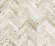 Szewron bieląca naturalna parkietowa bezszwowa podłogowa tekstura Obraz Royalty Free