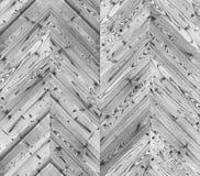 Szewron czarny i biały parkietowa bezszwowa podłogowa tekstura Obrazy Royalty Free