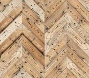 Szewron naturalna parkietowa bezszwowa podłogowa tekstura Fotografia Stock