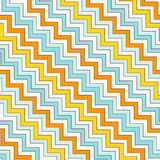 Szewron zygzakowata przekątna wykłada bezszwowego wzór Pasiasty abstrakcjonistyczny tło z klasycznym geometrycznym ornamentem ilustracja wektor