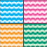 Szewronu koloru świeżego skutka ustalony bezszwowy wzór Obraz Royalty Free