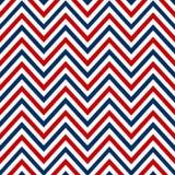 Szewronu morski biały czerwony błękitny bezszwowy deseniowy wektor Obrazy Stock