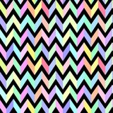 Szewronu pastelowy kolorowy wzór na czarnego tła bezszwowym vec Obraz Stock