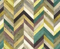 Szewronu przypadkowego koloru naturalna parkietowa bezszwowa podłogowa tekstura Obraz Royalty Free