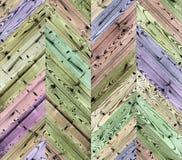 Szewronu przypadkowego koloru naturalna parkietowa bezszwowa podłogowa tekstura Fotografia Royalty Free