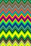 Szewronu zygzakowatego wzoru abstrakcjonistycznej sztuki psychodeliczny stubarwny kolorowy tło wykazywać tendencję Fotografia Stock