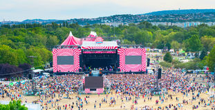 Sziget Festival Main Stage Stock Photo