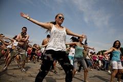 Sziget lata festiwal muzyki Budapest Węgry Obraz Royalty Free