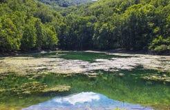 Szilvasvarad - lake with hills Stock Photo